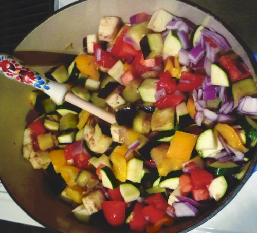 Sauteed Mixed Lecso Vegetables