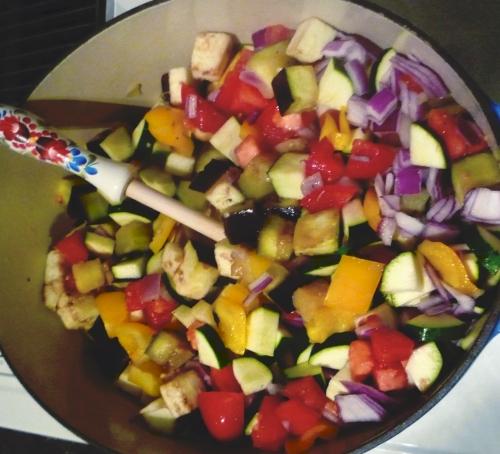 Sauteed Mixed Lecso Vegetables